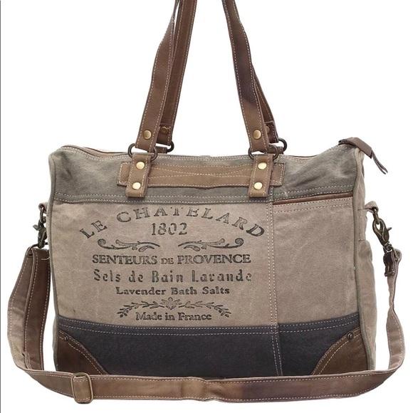 a3bb7e3fc7c4 Myra Bags | Bag 1802 Upcycled Canvas Messenger Tote | Poshmark
